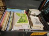 Vintage Cards in Metal Storage Box