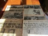 Lot of 8, 1945 Newspaper, War News, Roosevelt Dies, Buffalo Evening News
