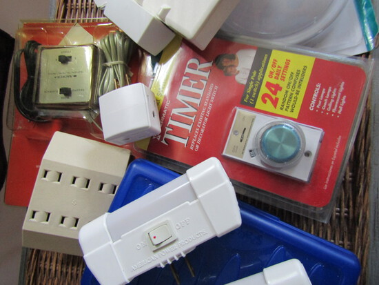 Household, Electrical, Cords, Lights, Plugs, Switch Covers, Timers