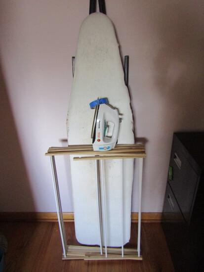 Vintage Ironing Board, Panasonic Iron, Drying Rack