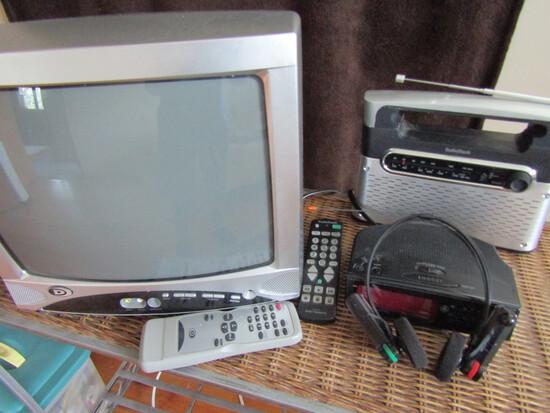 Lot of Electronics, TV Radio, Clock Radio, Wireless Headset Radio, Sony, Radion Shack