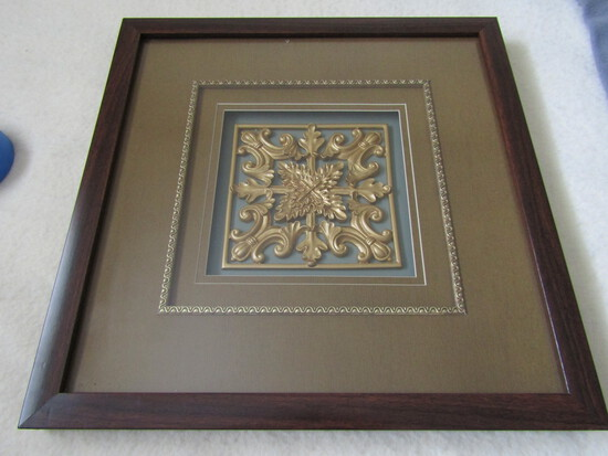 """Framed Art, 16"""" X 16"""", New Condition"""