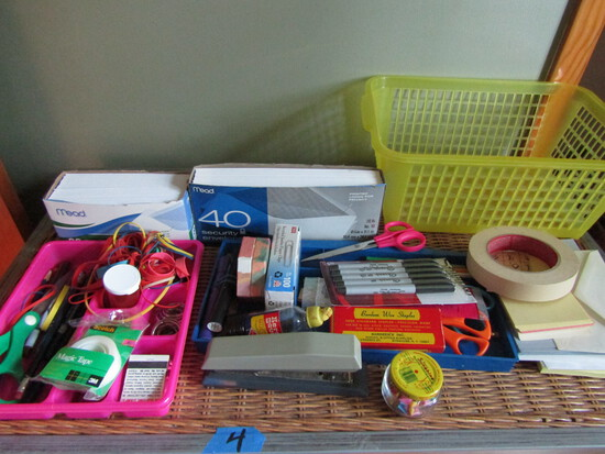 Lot of Office Supplies, Envelops, Shears, Markers