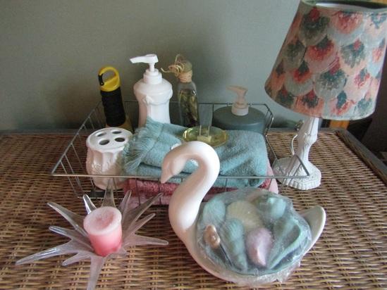 Assorted  Bathroom, Lamp, Dispensers, Swan, Unused