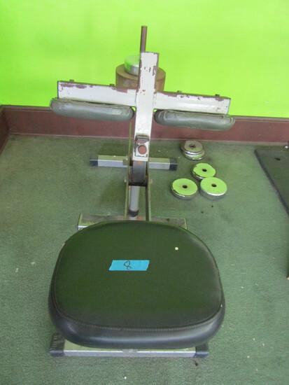 Seated Calf Press Exercise Machine