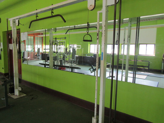 Floor Secured Vertical Weight Station with Cable Pulleys
