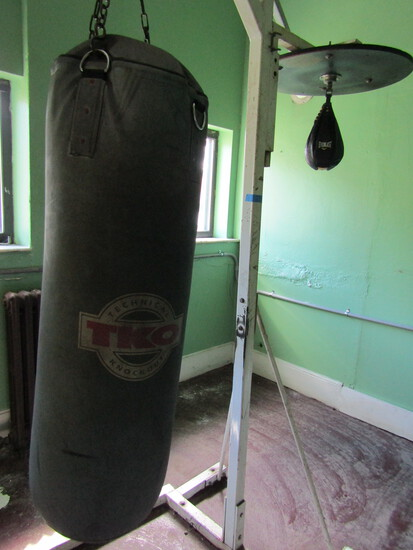 Free Standing Exercise Station with TKO Heavy Punching Bag and Speed Bag