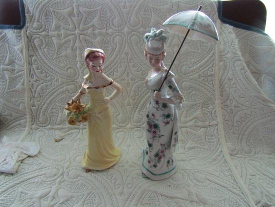 "Josef Original Figurine, Ardalt Figurine, Art Deco, 10"" and 13"" Tall"