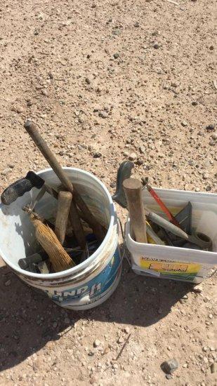 buckets of misc tools