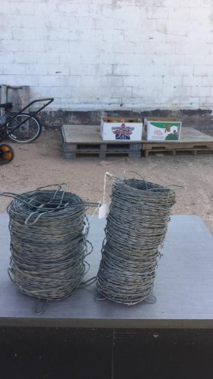 barbed and barbless wire