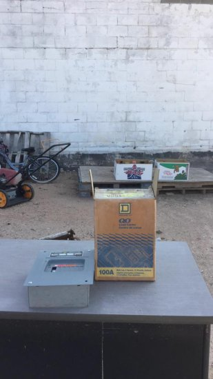 Lot of electrical boxes