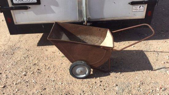 Rusty Garden wheeled Cart