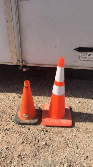 2- traffic cones