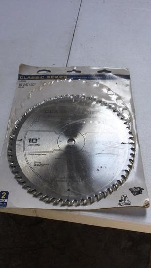 "Pair of 10"" saw blades"