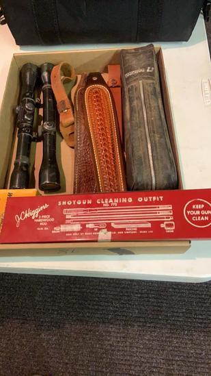 Box Lot scopes, slings, Rangefinder