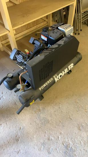 New Portable air compressor. Powered by Kohler