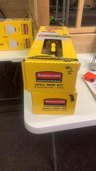Lot of 2 Rubbermaid spill mop kits