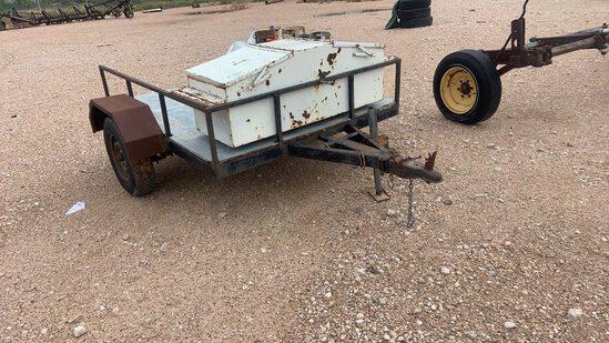 Shop made utility trailer