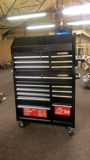 """New Husky 41"""" 16-drawer tool chest and cabinet"""