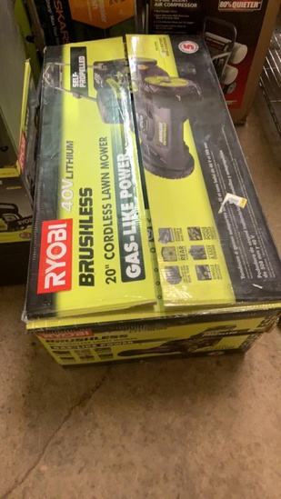 "New Ryobi 20"" Cordless lawn mower"