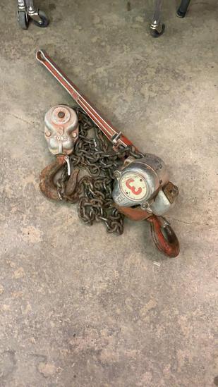 Grosby 3 ton chain hoist