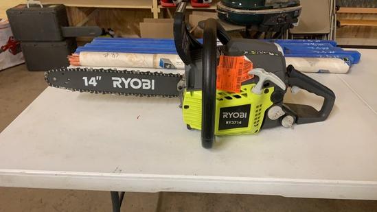 "RYOBI 14"" 2 cycle gas chainsaw"