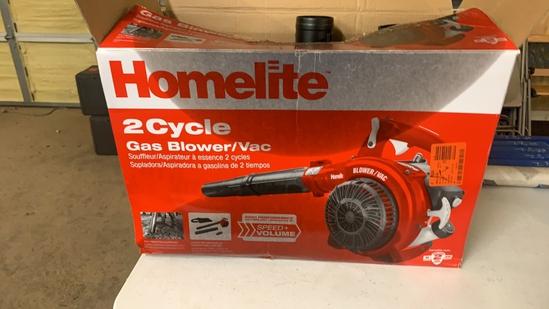 HOMELITE 2cycle gas blower/vac