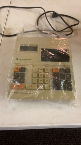 Texas Instruments electric calculator