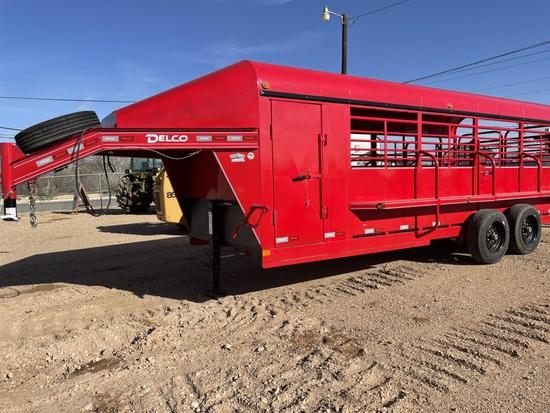 2020 Delco 20' stock trailer