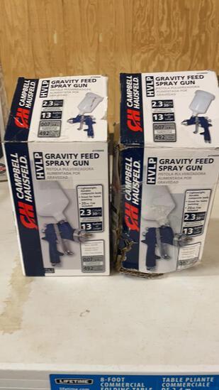 Lot of 2 CH gravity feed spray guns