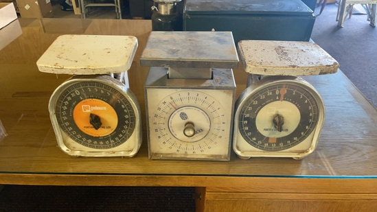 Lot of 3 scales