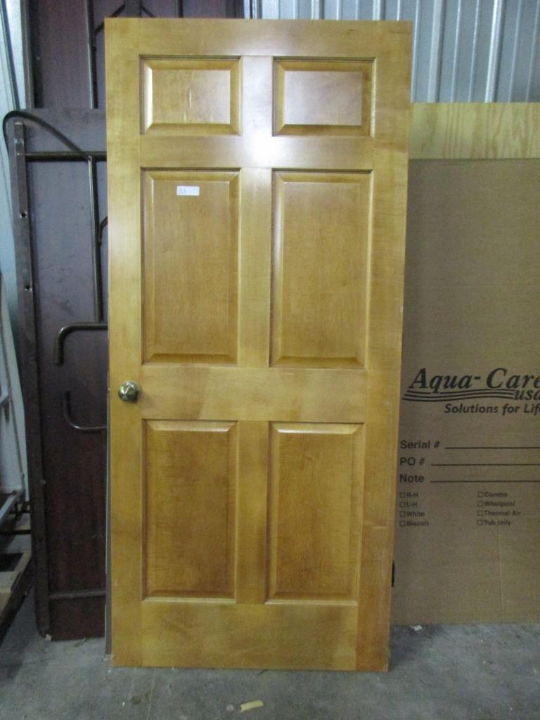 6 panel solid wood interior door 36 x 80 ... & Lot: 6 panel solid wood interior door 36 x 80 | Proxibid Auctions