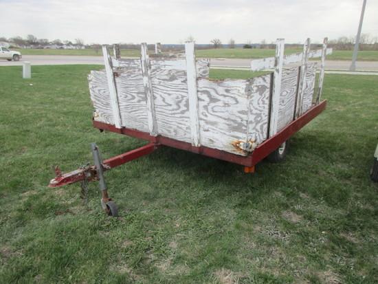 7' X 8' Home Built Tilt Bed Trailer
