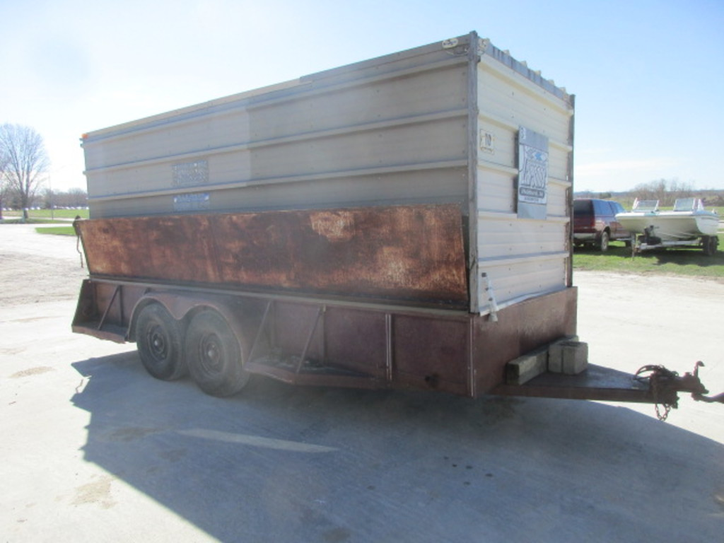 "74"" X 16' 1979 CCC, Inc. Job Site Trailer"