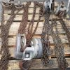 Assorted overhead pulleys and chain