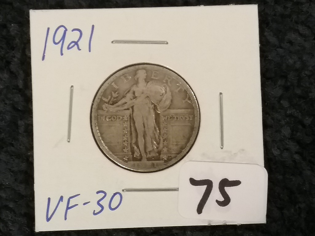 1921 Standing Liberty Quarter in Very Fine 30