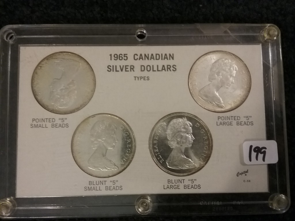 1965 Canadian  4-Coin Silver Dollar Set