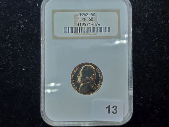 NGC 1962 Jefferson Nickel in Proof 68