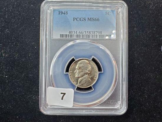 PCGS 1948 Jefferson Nickel in MS-66