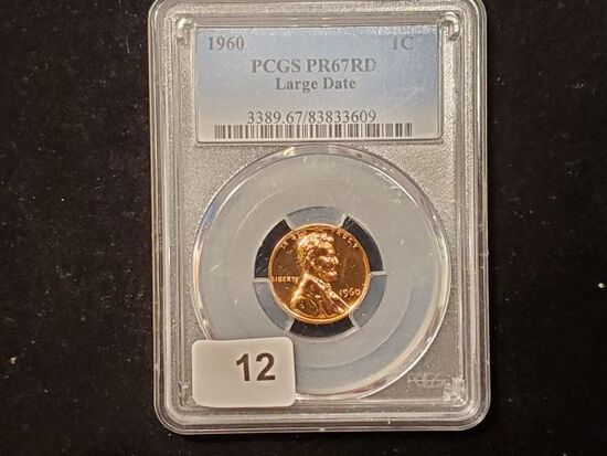 PCGS 1960 Proof 67 RED Large Date Cent