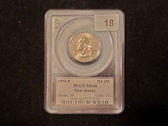 PCGS 1999-P New Jersey State Quarter in MS-66