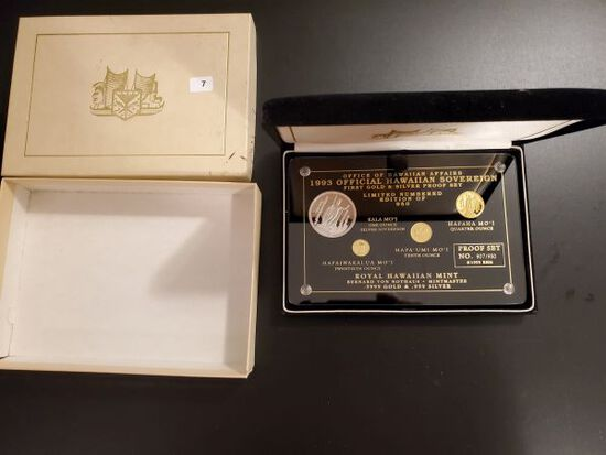 GOLD! NOW THIS IS AWESOME!!! VERY SCARCE GOLD HAWAII 1993 Set