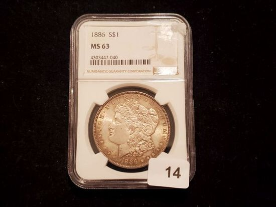 NGC 1886 Morgan Dollar in MS-63