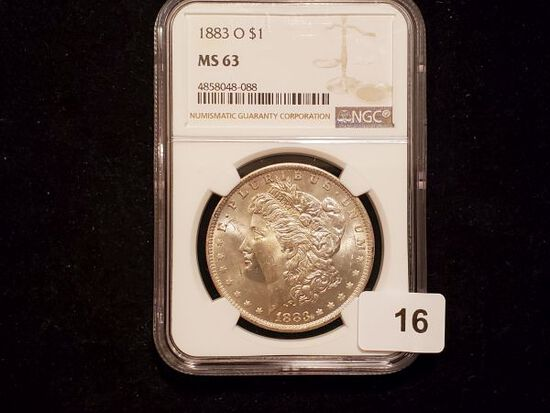 NGC 1883-O Morgan Dollar in MS-63