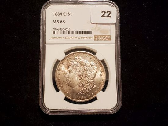 NGC 1884-O Morgan Dollar in MS-63