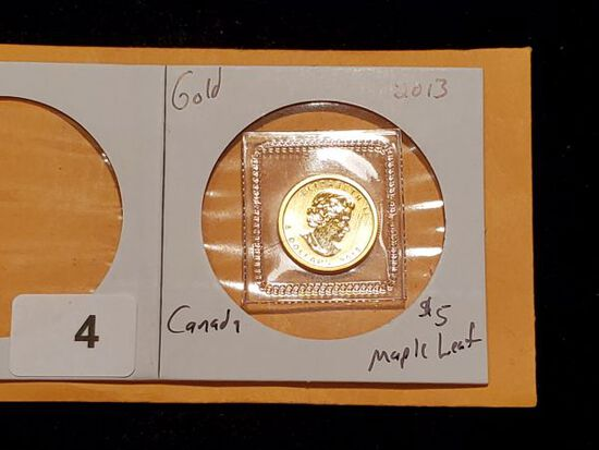 GOLD! 2013 Canada $5 Maple Leaf