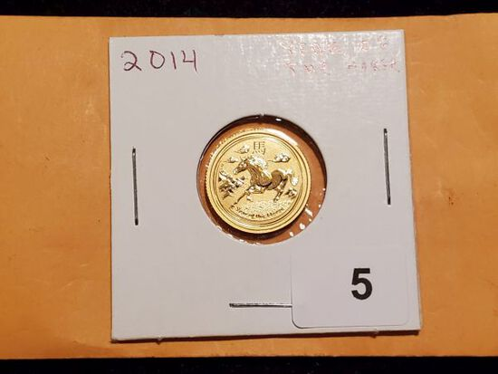 GOLD! 2014 Australia $15 Year of the Horse