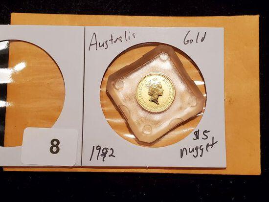 GOLD! Australia 1992 Gold $5 Nugget
