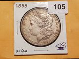 1898 Morgan Dollar in About Uncirculated