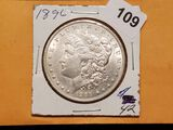 1896 Morgan Dollar in AU